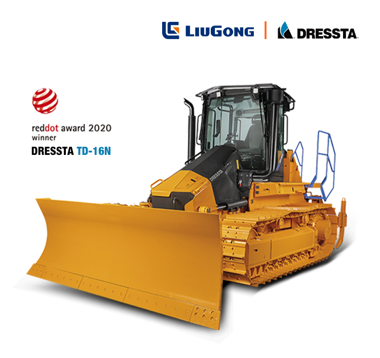 LiuGong Dressta's design team win back-to-back Red Dot Product Design Awards with the new Dressta TD-16N crawler dozer.
