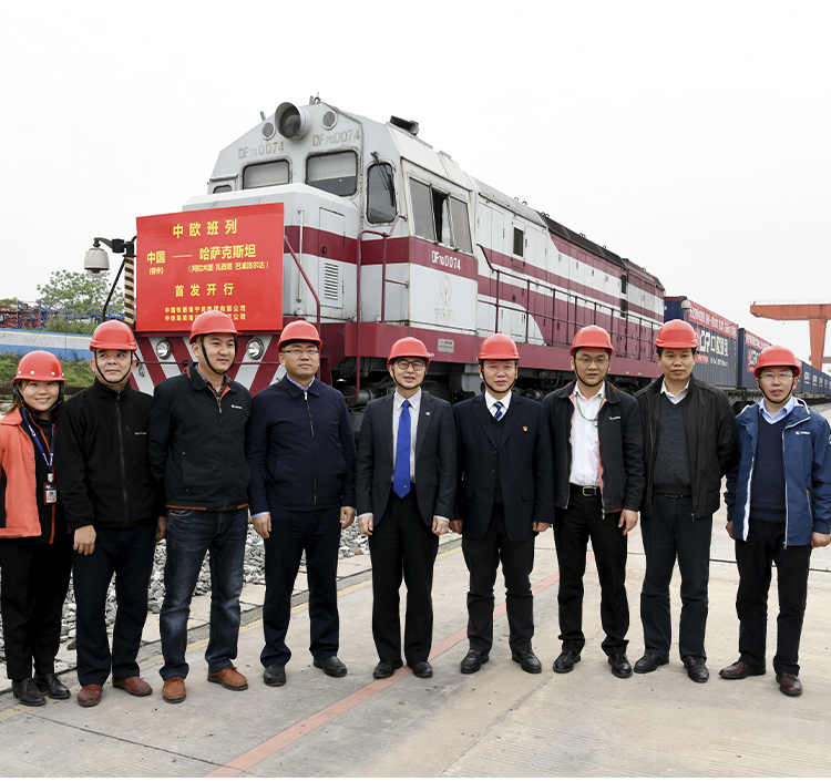 LiuGong Takes the First China Railway Express Train from Guangxi to Kazakhstan, Delivering on Our Commitment to Customers